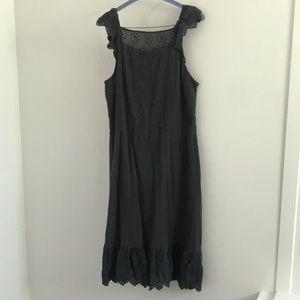 Loft SZ 20 grey eyelet dress.